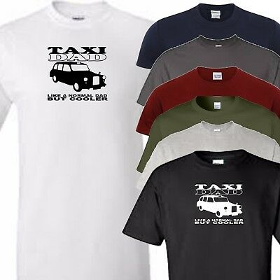 choose colour and size from menu black cab taxi dad t shirt