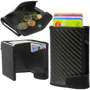TONY-PEROTTI-Aluminium-Carbon-Brieftasche-Portemonnaie-Muenzfach-Kreditkartenetui