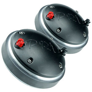 "Pair PRV Audio D280Ti-B 1"" Titanium Horn Compression Driver 8 Ohm 2/3-Bolt"