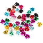 Free Shipping 100pcs Mixed Color Aluminum Rose Flower Spacer Beads 6mm
