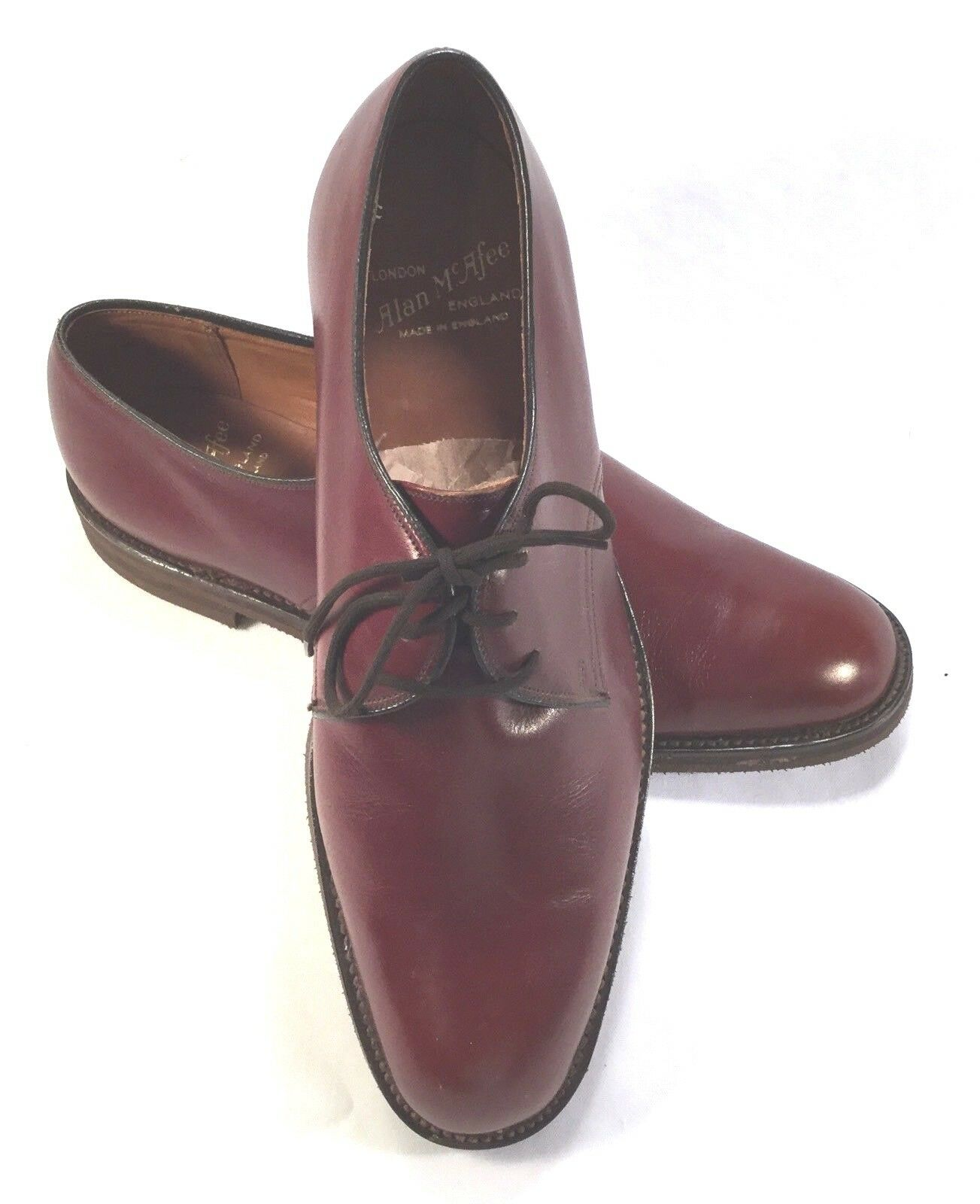 Alan McAfee Homme Derbies marron made in England Lacets Cravate Taille 9 aucune usure