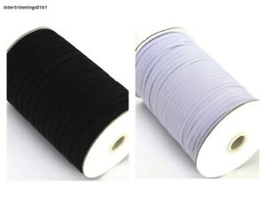 ELASTIC-4-CORD-FLAT-3MM-WIDE-AVAILABLE-IN-BLACK-OR-WHITE-amp-DIFFERENT-LENGTHS
