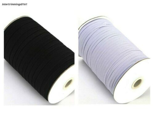ELASTIC 4 CORD FLAT AVAILABLE IN BLACK OR WHITE /& DIFFERENT LENGTHS 3MM WIDE