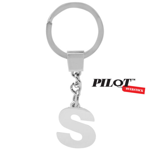 US SELLER FAST SHIPPING Pilot Automotive Chrome Letter S Key Chain