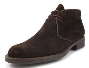 Bruno Magli Men's Shoes Size 9.5 US Dostin Suede Lace Up Ankle Boots Brown