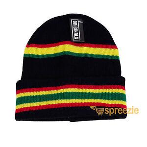 57e7da34e13 Rasta Beanie Plain Knit Ski Hat Skull Cap Cuff Warm Winter Blank ...