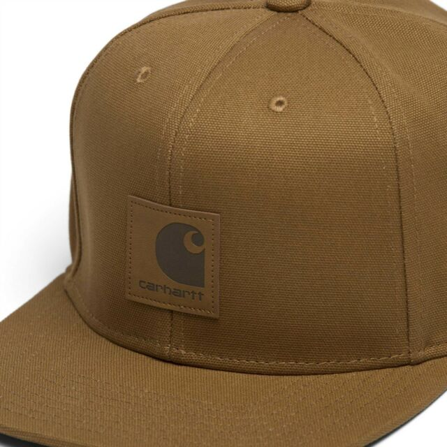 Cappello Carhartt Logo Cap Snapback Visiera piatta Hamilton Brown ... d2ba4b827504