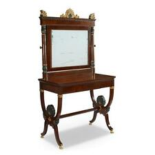 A Charles X parcel-gilt and bronze-painted mahogany dressing table, s... Lot 340