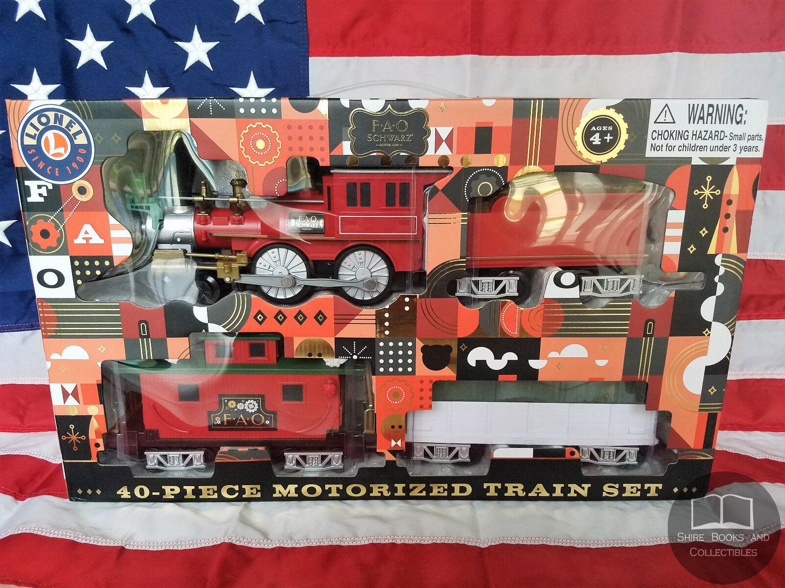 NEW F.A.O. Schwarz - 40 Piece Motorized Train Set Electric