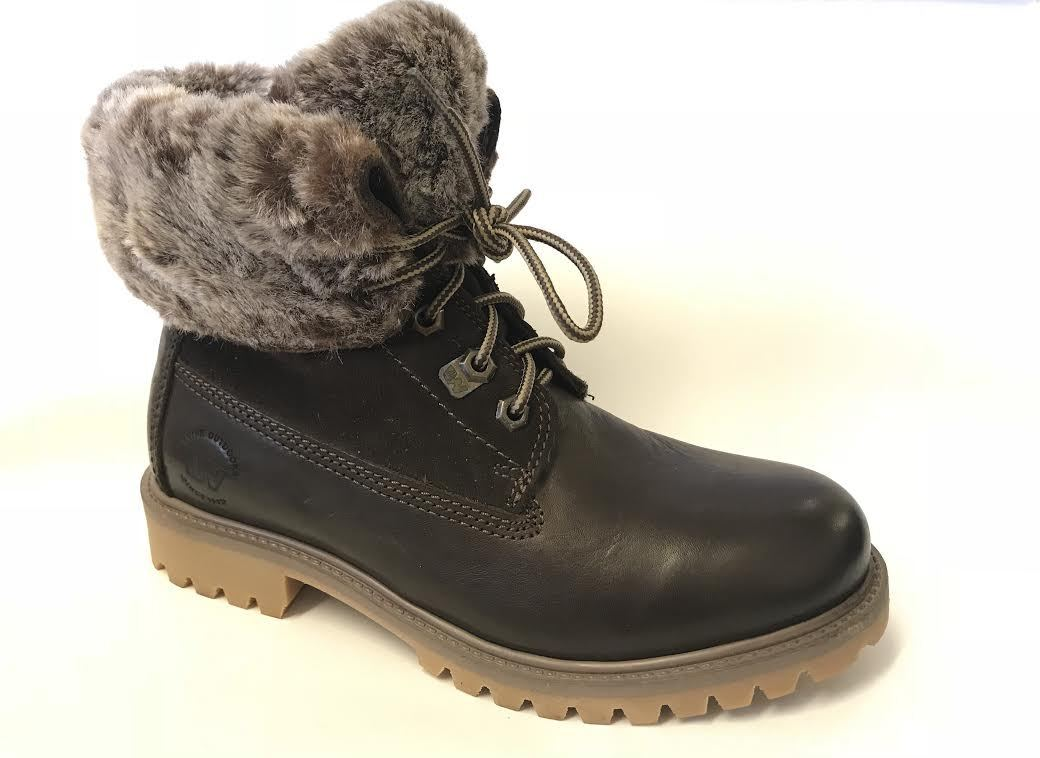 Weinbrenner Womens Ladies Combat Fur Winter Warm Leather Lace Up Boots Tread