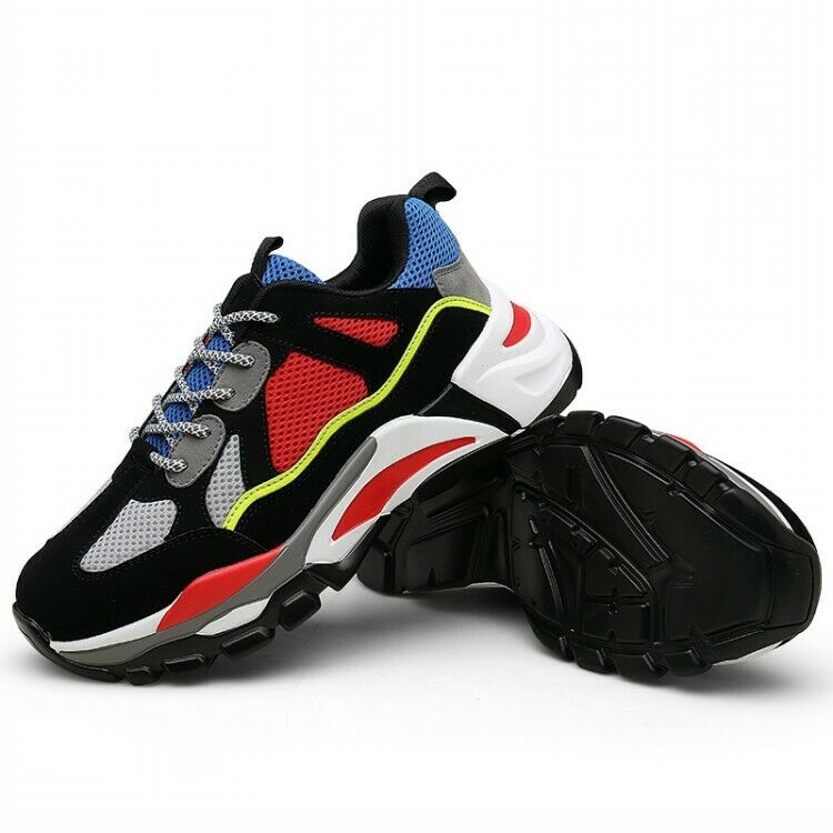 Mens Fashion Mixed colors Sports Athnic Lace Up Running Walking Casual shoes hot