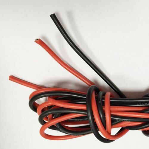 10AWG Gauge Silicone Wire Flexible Stranded Copper Cables 1M for RC black red