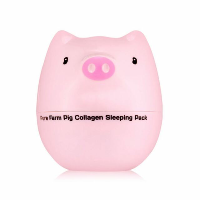 TONYMOLY Pure Farm Pig Collagen Sleeping Pack 80g w/ Free Sample