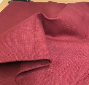DEEP RED COTTON BACK COATED CURTAIN UPHOLSTERY FABRIC 44 METRES - manchester, United Kingdom - DEEP RED COTTON BACK COATED CURTAIN UPHOLSTERY FABRIC 44 METRES - manchester, United Kingdom