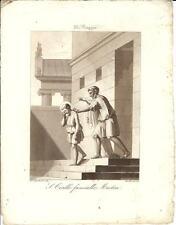 Stampa antica SAN CIRILLO FANCIULLO Bigioli 1839 Old antique print