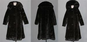 4 Tekstur Krave Fur Exc Faux l Coat Vtg Stort WMS Sort 3 Horisontal Æsker M x1qEwY4g