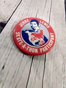 Vintage-Jerry-Lewis-Skate-A-Thon-Participant-Pinback-Button-Badge-2-25-034-1970s