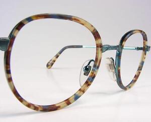image is loading wild navy teal tortoise bogart vtg eyeglass frames - Zyl Frames