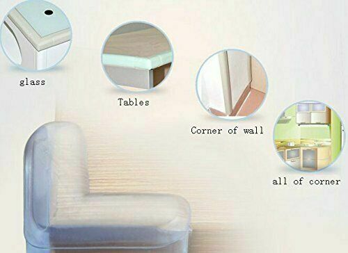8//12 Clear Rubber Furniture Corner Edge Table Cushion Guard Protector Baby Safty