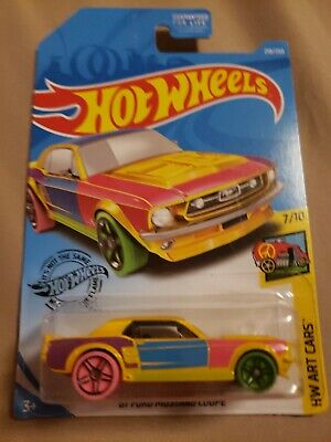 HOT WHEELS 2019 `67 FORD MUSTANG COUPE HW ART CARS 7//10 FYC26