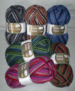 5,30€/ 100 gr SALSA Sock yarn from RELLANA Quadruple / 4 thread Pattern making