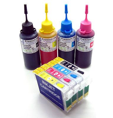 Refillable Ink Cartridge Kits fits Epson WF-2630WF WF-2650DWF WF-2660DWF NON-OEM