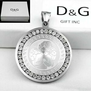 DG-Men-35mm-silver-Stainless-Steel-Ice-Out-CZ-ANGEL-Pendant-Box