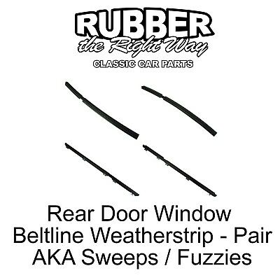 4 Door Window Glass Weatherstrip Inner /& Outer Kit fits 1984-1996 Jeep Cherokee