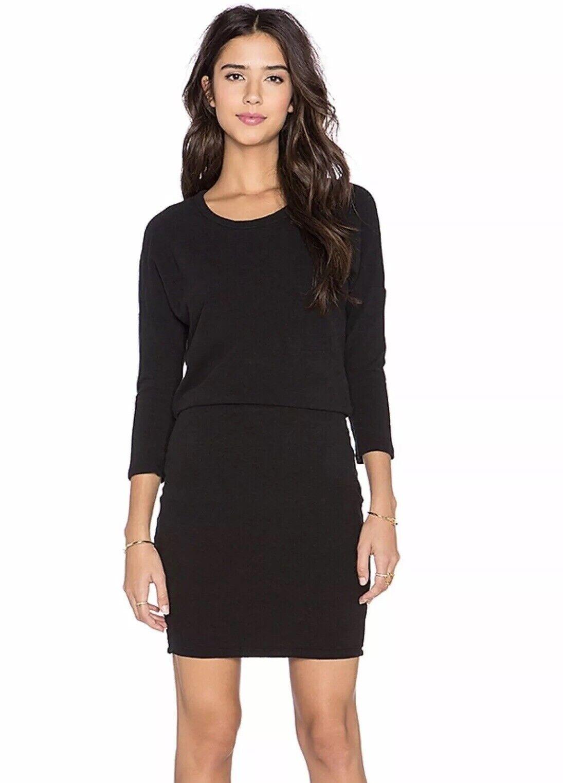 James Perse Dolman Blouson Dress Women's Size 0 Khaki 3 4 Sleeve WOG6872