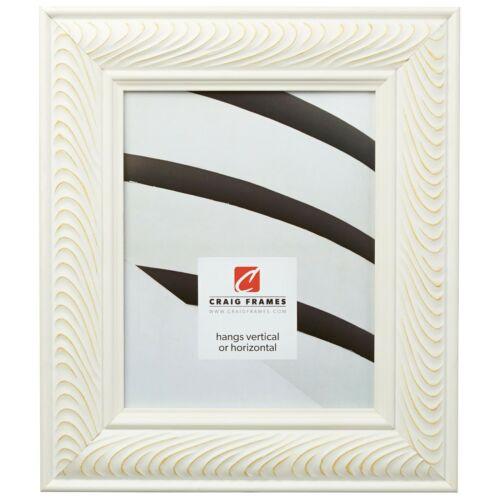 """Craig Frames Stockholm 2.5/"""" Pure White Scandinavian Style Picture Frame"""