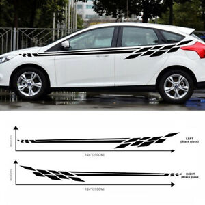 2X-Auto-Car-Racing-Sport-Style-Stripe-Graphics-Side-Body-Vinyl-Decal-Sticker-DIY