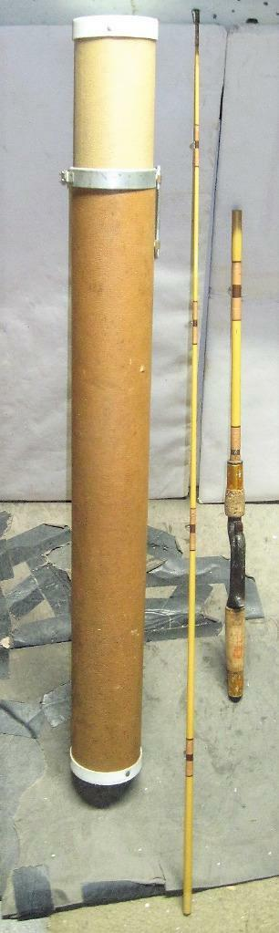 Vintage Heddon Pal 5' 8  Special Purpose Rod With Tube Caddy