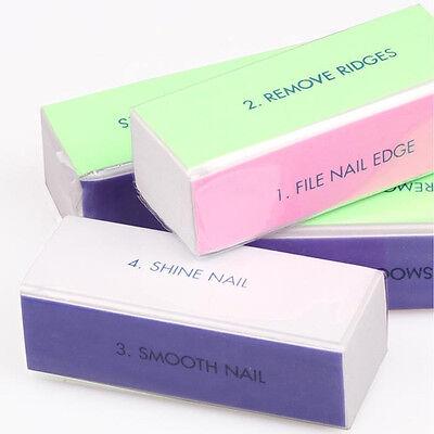 5 X Nail Art Polisher 4 Way Shiner Sanding Buffer Polishing Block Manicure File