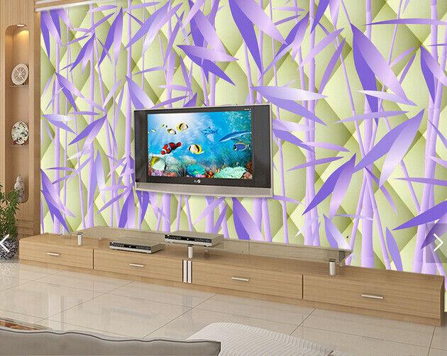 3D Bamboo lila 69 Wallpaper Murals Wall Print Wallpaper Mural AJ WALL AU Kyra