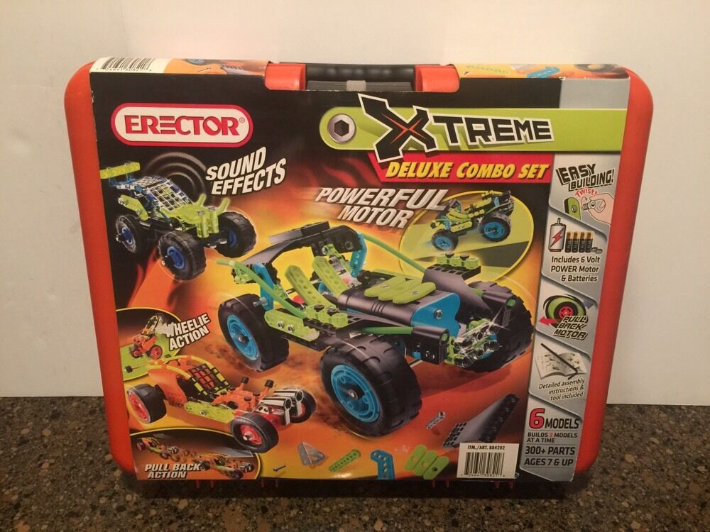 NEW Erector Extreme Deluxe Combo Set 300 + Parts Factory Sealed  Ages 7+  2011