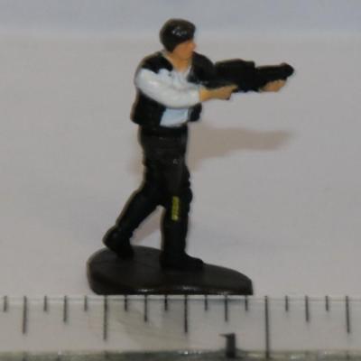"Star Wars Micro Machines Action Fleet HAN SOLO 1/"" Figure Pilot Imperial Shuttle"