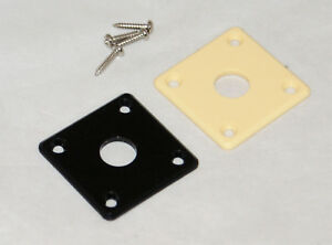 CURVED JACK SOCKET PLATE /& SCREWS// LES PAUL ETC// CHROME//BLACK//GOLD