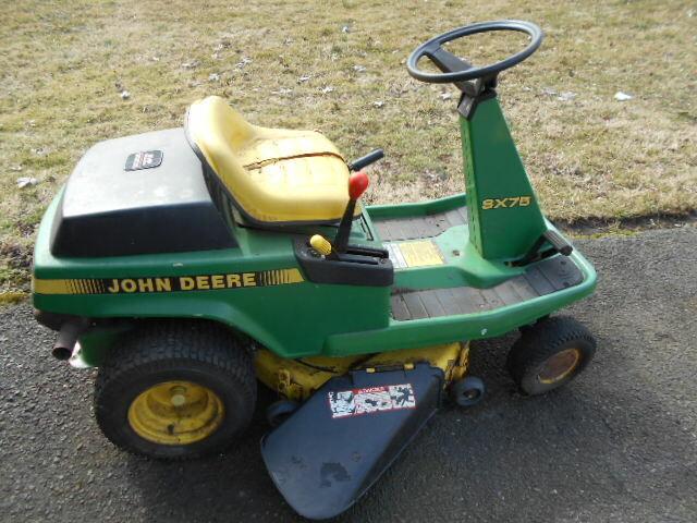 John Deere For Sale >> Parts Or Repair Vintage John Deere Sx75 9hp 32 Cut Riding Mower