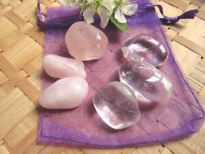 """22-Dynamiseur""""Harmonie""""cristal de roche-quartz rose-Reiki-lithothérapie"""