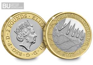 Rationnel Uk 2019 D-day Certifié Bu £ 2 Coin-afficher Le Titre D'origine Apparence Attractive