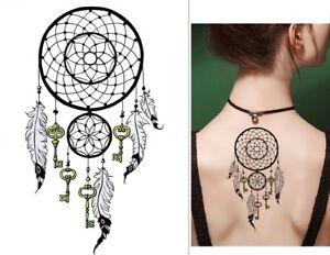 traumf nger tattoo arm tattoo fake tattoo syb094 ebay. Black Bedroom Furniture Sets. Home Design Ideas