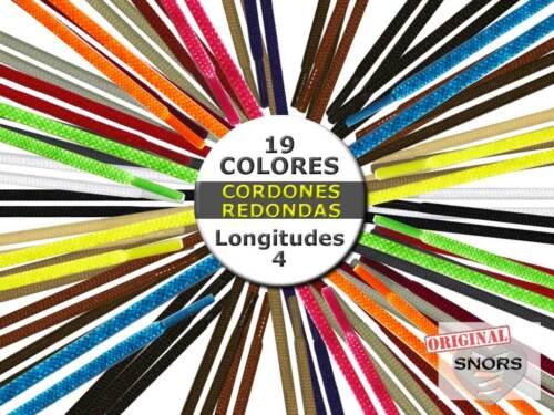 CORDONES ZAPATILLAS de COLORES REDONDO 4 Longitudes GRIS