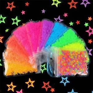 Lots-STAR-Neon-6mm-Nail-Art-Glitter-3D-Sequins-Decoration-Summer-Hollow-Shape-UK