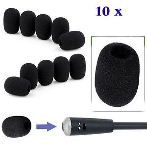 10pcs-Mini-Black-Microphone-Headset-Windscreen-Sponge-Foam-Mic-Cover-Protector