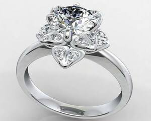 1-81CT-Off-White-Round-Cut-Moissanite-Ring-Wedding-Ring-925-Sterling-Silver-NR6