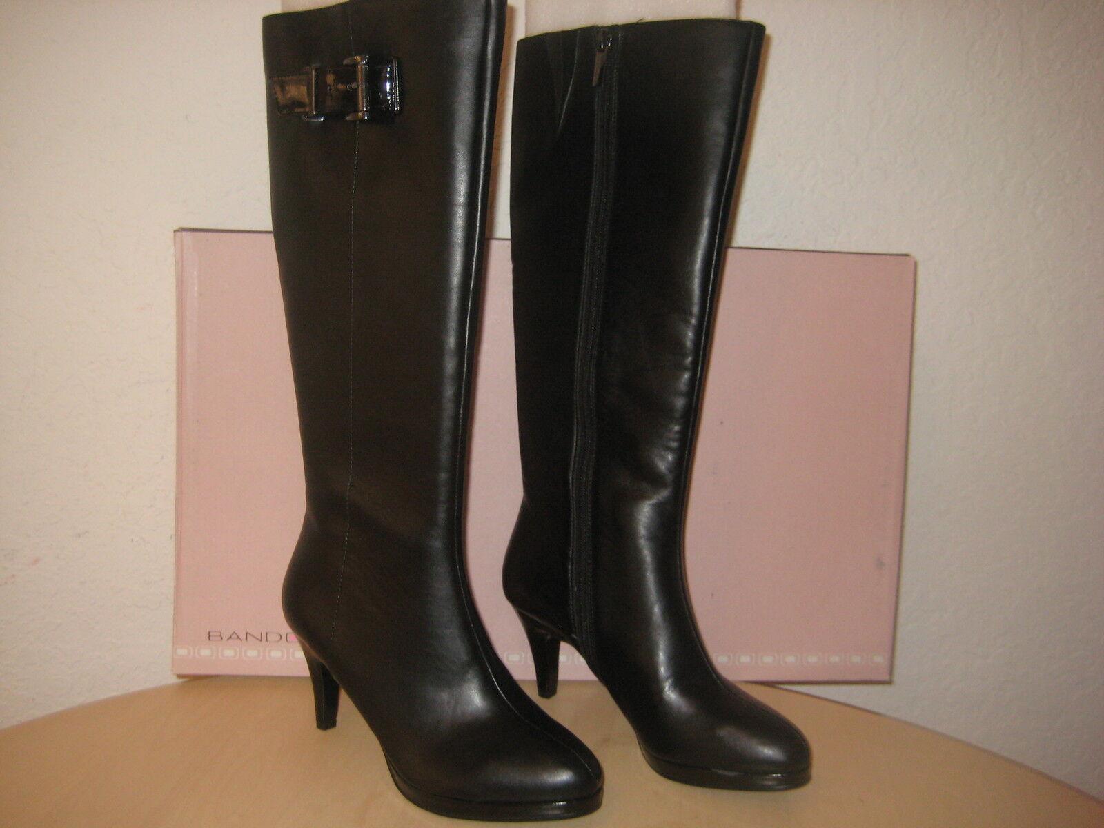 Bandolino Shoes Size 6 M Womens New Jeney Black Knee High Fashion Boots NWB