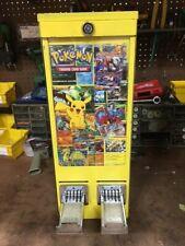 Pikachu Yellow Pokemon Sticker Tattoo Vending Machine 2 Column Displays Included