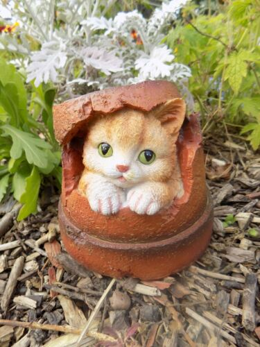 Animal Flower Plant Pot Garden Ornaments Resin Dog Cat Mole Hedgehog /& Frog