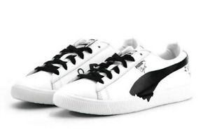 huge selection of 6ae0b def09 Details about Puma Clyde Shantell Martin # 365894 01 White & Black Men SZ 6  - 13