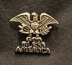 God Bless America Eagle Motorcycle Pin